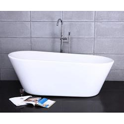 Free-standing Deep Soak Bath Tub and Faucet