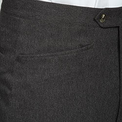 Sansabelt Men's Charcoal Gabardine Twill Trousers