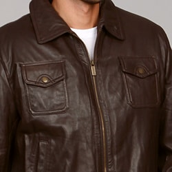 MICHAEL Michael Kors Men's Leather Jacket