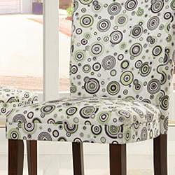 ETHAN HOME Decor Bubble Print Dining Chairs (Set of 2)