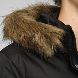 DKNY Women's Long Quilted Zip-front Down Coat