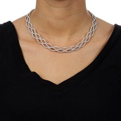 Gregg Ruth 18k White Gold 10ct TDW Diamond Necklace