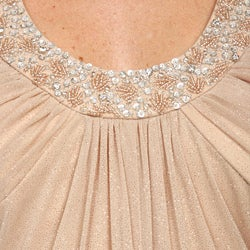 JS Boutique Women's Mesh Beaded Dress
