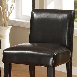ETHAN HOME Bennett 29 inches Brown Faux Leather Barstools (Set of 2)