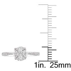 Miadora 18k White Gold 3/8ct TDW Diamond Ring (G-H, SI1-SI2)