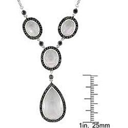 Miadora 14k Gold White Topaz and 3/4ct TDW Black Diamond Necklace (Black)