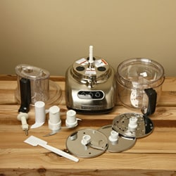KitchenAid RKFP750NK Nickel 12-Cup Ultra Wide Mouth Food Processor (Refurbished)