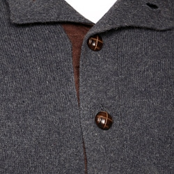 System Collection Men's Dark Grey Cardigan FINAL SALE