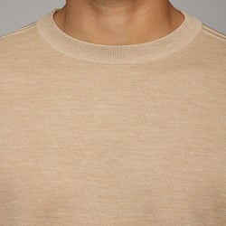 Oggi Moda Men's Silk/Cashmere Blend Crewneck Sweater