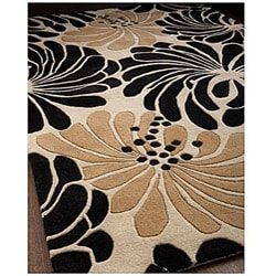 Alliyah Handmade Beige New Zealand Blend Wool Rug(4' x 6')