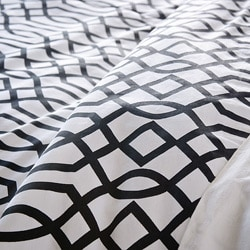 Black Trace 3-piece King-size Duvet Cover Set