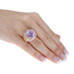 Lillith Star 18k Gold over Silver Lavender Cubic Zirconia Ring