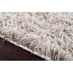Hand-woven Houdini Beige Wool Rug (8'x10')