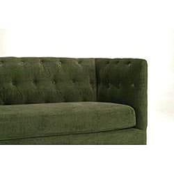 Modern green chenille sofa overstocktm shopping great for Green chenille sectional sofa