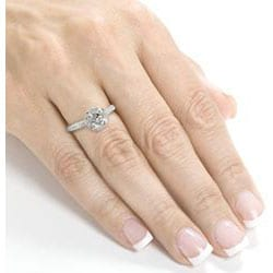 14k White Gold 1 1/2ct TDW Diamond Halo Engagement Ring