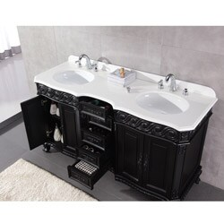 Tristan 60-inch Marble Double Vanity Sets By Ove Decors