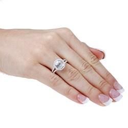 Victoria Kay 14k White Gold 1ct TDW Mosaic Diamond Split Shank Halo Ring (H-I, SI1)