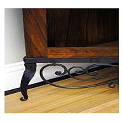 Sheesham Wood Metal Scroll Feet Corner Cabinet (India)