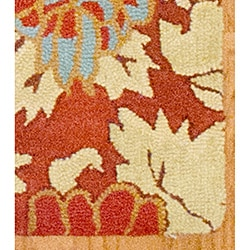 Hand-tufted Indo Rust/ Beige Wool Rug (5' x 7')