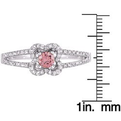 14k White Gold 2/5ct TDW Pink and White Diamond Ring (G-H, SI1)