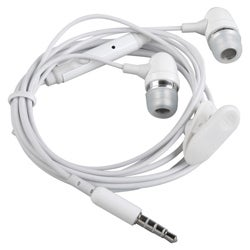 White Universal 3.5mm In-ear Stereo Headset with On Off and Mic