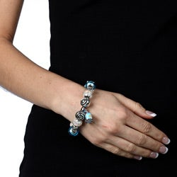 Sterling Essentials Sterling Silver Peace Bus Theme Bracelet