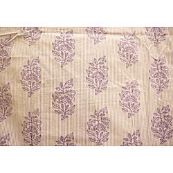 Organic Cotton Elyse Violette King-size Duvet Cover (India)