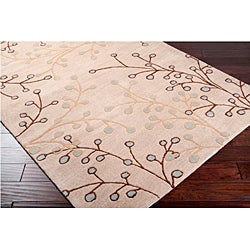 Hand-tufted Whimsy Ivory Wool Rug (5' x 8')