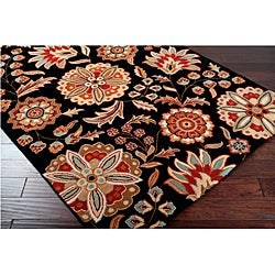 Hand-tufted Whimsy Black Wool Rug (5' x 8')