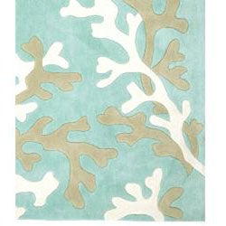 Hand-tufted Kamari Blue Abstract Rug (3'6 x 5'6)