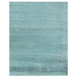 Hand-loomed Haiden Blue Wool/ Viscose Rug (3'6 x 5'6)