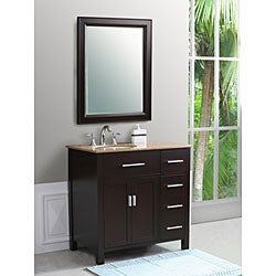 Rome 36-inch Espresso Single-sink Bathroom Vanity