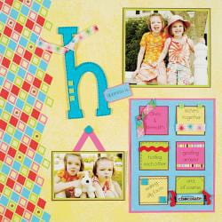 Personal Shopper January 2007 Winter & Bright Scrapbooking Set
