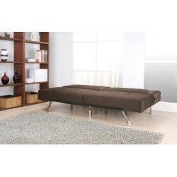 Jacksonville Brown Fabric Foldable Futon Sofa Bed