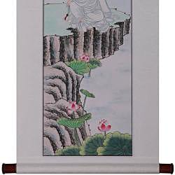 'Goddess of Mercy' Wall Art Scroll Painting (China)