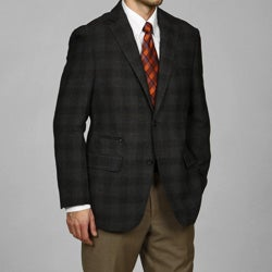 U&I Men's Charcoal Wool Two-button Sportcoat