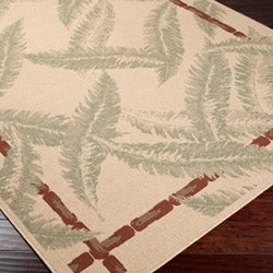 Picnic Tan Botanical Indoor/Outdoor Rug (7'6 x 10'9)