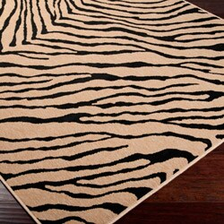 Picnic Brown/ Black Animal Rug (8'9 x 12'9)