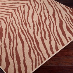 Picnic Brown Zebra Print Indoor/Outdoor Rug (8'9 x 12'9)