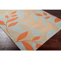 Hand-hooked Bliss Light Blue Rug (8' x 10')
