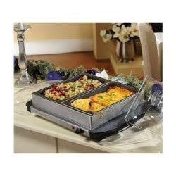 Cook's Essentials K17389 Stainless Steel 5-quart Nonstick Buffet Server w/ Warming Tray (Refurbished)