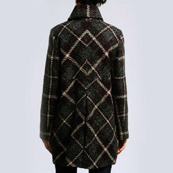 Larry Levine Women's Missy Plaid Coat