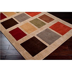 Hand-tufted Tailored Beige Wool Rug (8' x 11')