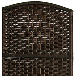Wood and Fiber 6-foot Diamond Weave Room Divider (China)