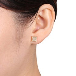 Miadora 10k Yellow Gold Diamond Accent Earrings