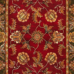 Hand-tufted Grandeur Burgundy Wool Rug (8' x 11')