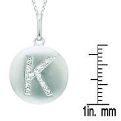 Sterling Silver/ 14k Gold 1/10ct TDW Diamond 'K' Necklace (H-I, I2-I3)