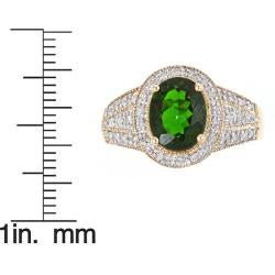 D'Yach 14k Yellow Gold Chrome Diopside and 1/5ct TDW Diamond Ring (G-H, I1-I2)