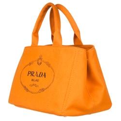 Prada B1872B Orange Canvas Tote Bag - 13490704 - Overstock.com ...