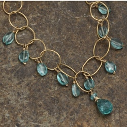 Rafia 14k Goldfill Light Apatite Chain Necklace